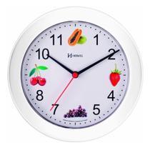Relógio de Parede 21 cm Cozinha Branco Frutas Herweg 660070-21 -
