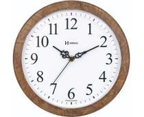 Relógio De Parede 26 Cm Herweg Cor Madeira Lançamento - Ref - 660073-323 -