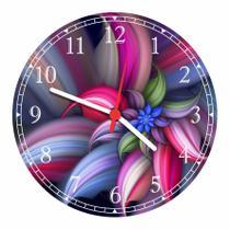 Relógio De Parede Abstrato Flores Paisagem Natureza Salas Cozinhas Decoração - Vital Quadros