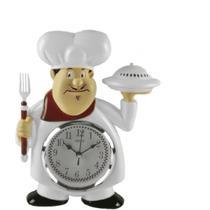 Relógio De Parede Analógico Chef Cozinheiro - imporiente import