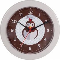 Relógio de parede analógico decorativo galinha ideal para cozinha herweg marrom areia -