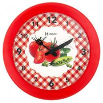 Relógio de parede analógico decorativo ideal para cozinha herweg vermelho -