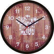 957b4967d21 Relógio de parede analógico decorativo ideal para cozinha mecanismo step  preto - Herweg