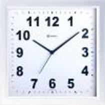 Relógio de parede analógico decorativo Quadrado Herweg branco -