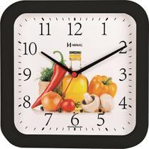 Relógio de Parede Analógico - Frutas - Preto - Herweg -