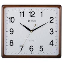 Relógio de parede analógico moderno estilo madeira mecanismo sweep herweg ipê -