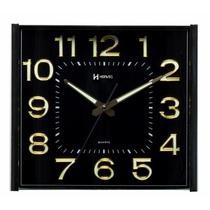Relógio de parede analógico moderno iluminação noturna com fosforescência herweg dourado -