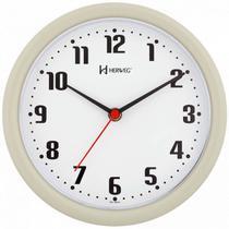 Relógio de parede analógico moderno mecanismo step herweg cinza -