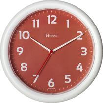 Relógio de parede analógico moderno redondo mecanismo step herweg rosa -