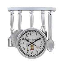Relógio De Parede Analógio Cozinha Talheres Bon Appetit! - Braswu
