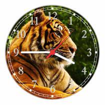 Relógio De Parede Animais Tigre Decorações Quartz - Vital Quadros