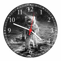 Relógio De Parede Astronauta Planetas Lua Decoração Quartz - Vital Quadros