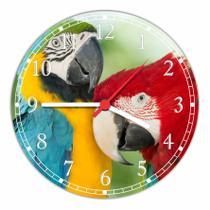 Relógio De Parede Ave Pássaro Animais Quartz - Vital Quadros