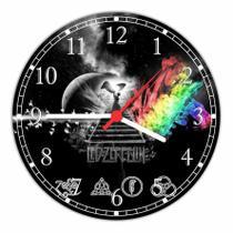 Relógio De Parede Banda Led Zeppelin Quarto Salas Tamanho Grande 50 Cm Quartz G02 - Vital Quadros