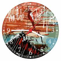 Relógio De Parede Banda Pink Floyd Rock Bar Quarto Salas Tamanho Grande 50 Cm Quartz G02 - Vital Quadros