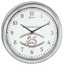 Relógio De Parede Bodas De Prata 28cm / Presente Casamento - Ref 6636 - Herweg