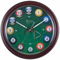Relógio De Parede Bolas De Sinuca Bilhar Decorativo Decoração. Ref  - 6469 - Herweg