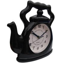 Relógio de parede Bule chaleira cozinha xícara 24x23 cm - Yin'S