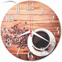 Relógio De Parede Café Cozinha Decoração Xícara Retrô 30cm - Relógil