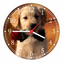 Relógio De Parede Cão Pet Shop Animais Tamanho Grande 50 Cm Quartz G06 - Vital Quadros