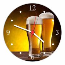 Relógio De Parede Cerveja Bar Churrasco Gourmet Decoração Quartz - Vital Quadros