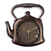 Relógio de Parede Chaleira Marrom 24 cm x 29 cm - Qaza