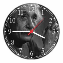 Relógio De Parede Ciências Abstrato Albert Einstein Decorações Quartz - Vital Quadros