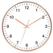 Relógio de parede cobre 25 cm - Importado