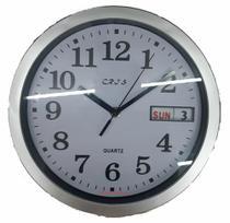 Relógio De Parede Com Data Cozinha Decorativo Sala Redondo - Cris