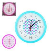 Relógio De Parede Corações Decorativo Sala Cozinha - Camp - Salada