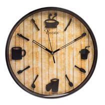 Relógio de parede cozinha 30cm 1 pilha AA Classic Coffee - Toda Casa