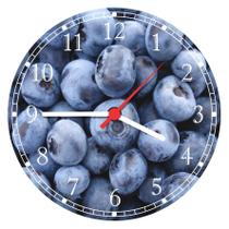 Relógio De Parede Cozinha Frutas Açaí - Vital Quadros