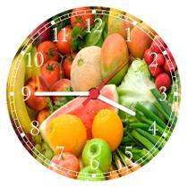 Relógio De Parede Cozinha Frutas Verduras Restaurantes - Vital Quadros