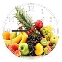 Relógio De Parede Cozinha Frutas - Vital Quadros