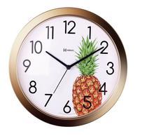 Relógio De Parede Cozinha Gourmet Lançamento Decorativo Abacaxi - Ref 660048 Dourado - Herweg