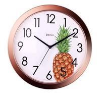 Relógio De Parede Cozinha Gourmet Lançamento Decorativo Abacaxi - Ref 660048 Rosê. - Herweg