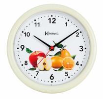 Relógio De Parede Cozinha Redondo Decoração Decorativo Frutas - Ref - 6105 - Herweg