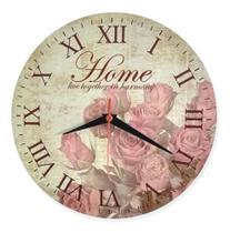 Relógio De Parede Cozinha Sala Vintage Home Retrô Flor 30cm - Relógil