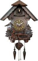 Relógio De Parede Cuco Passarinho Canta Modelo Grande Em Madeira Ref - 530003 - Herweg