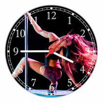 Relógio De Parede Dança Pole Dance Decoração Quartz - Vital Quadros