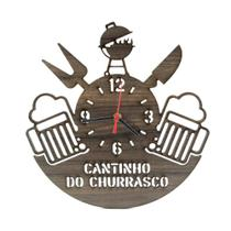 Relógio de Parede Decorativo - Cantinho do Churrasco 2D - Wvm