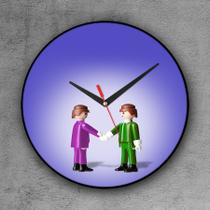 Relógio de parede decorativo, criativo e descolado  Playmobil - Colours  creative photo decor