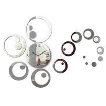 Relógio de parede Decorativo Espelhado Bolas sala cozinha - Visual Laser