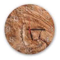 Relógio de Parede Decorativo Madeira Rústico 35cm - Prego E Martelo