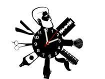 Relógio de Parede Decorativo - Modelo Barbearia - Me Criative