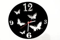 Relógio de Parede Decorativo - Modelo Borboletas - Me Criative