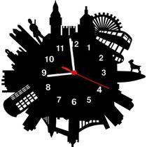 Relógio de Parede Decorativo - Modelo London World - Me Criative