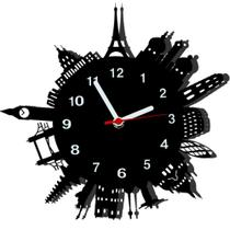 Relógio de Parede Decorativo - Modelo Mundo - Me Criative