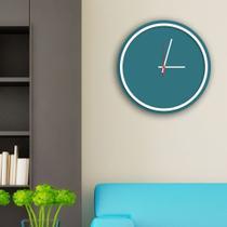 Relógio de Parede Decorativo Premium Minimalista Ágata com Borda Branca em Relevo - Prego E Martelo