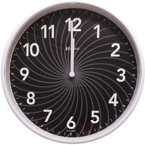 Relógio De Parede Decorativo Preto Herweg 6182-034 -